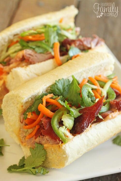 Vietnamese Pork Sandwiches