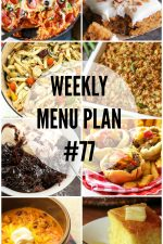 Weekly Menu Plan 77