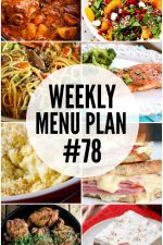 Weekly Menu Plan 78