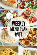 Weekly Menu Plan 81