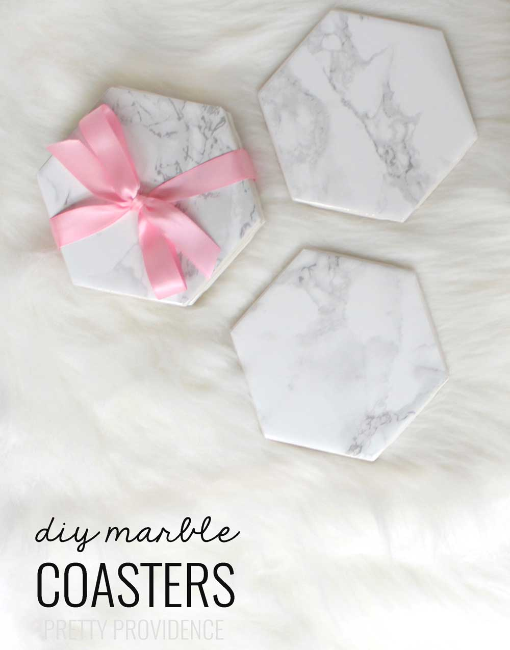 DIY Marble Coasters - such a cute, simple and inexpensive gift idea that is perfect for birthdays or even the holidays