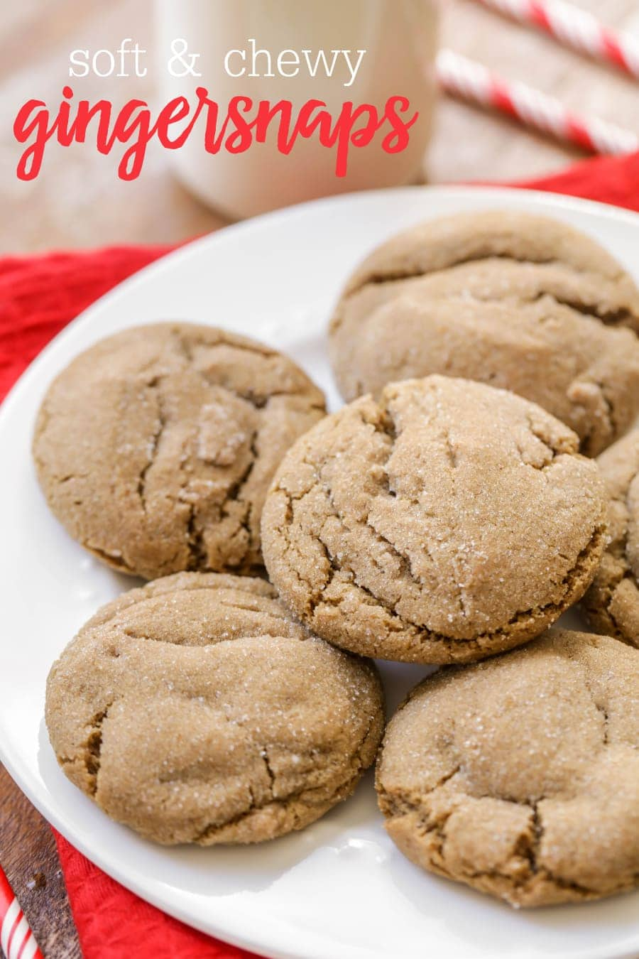 Soft and Chewy Gingersnaps - our favorite recipe for the classic cookie filled with molasses, ginger and cinnamon!!
