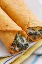 Spinach and Artichoke Taquitos