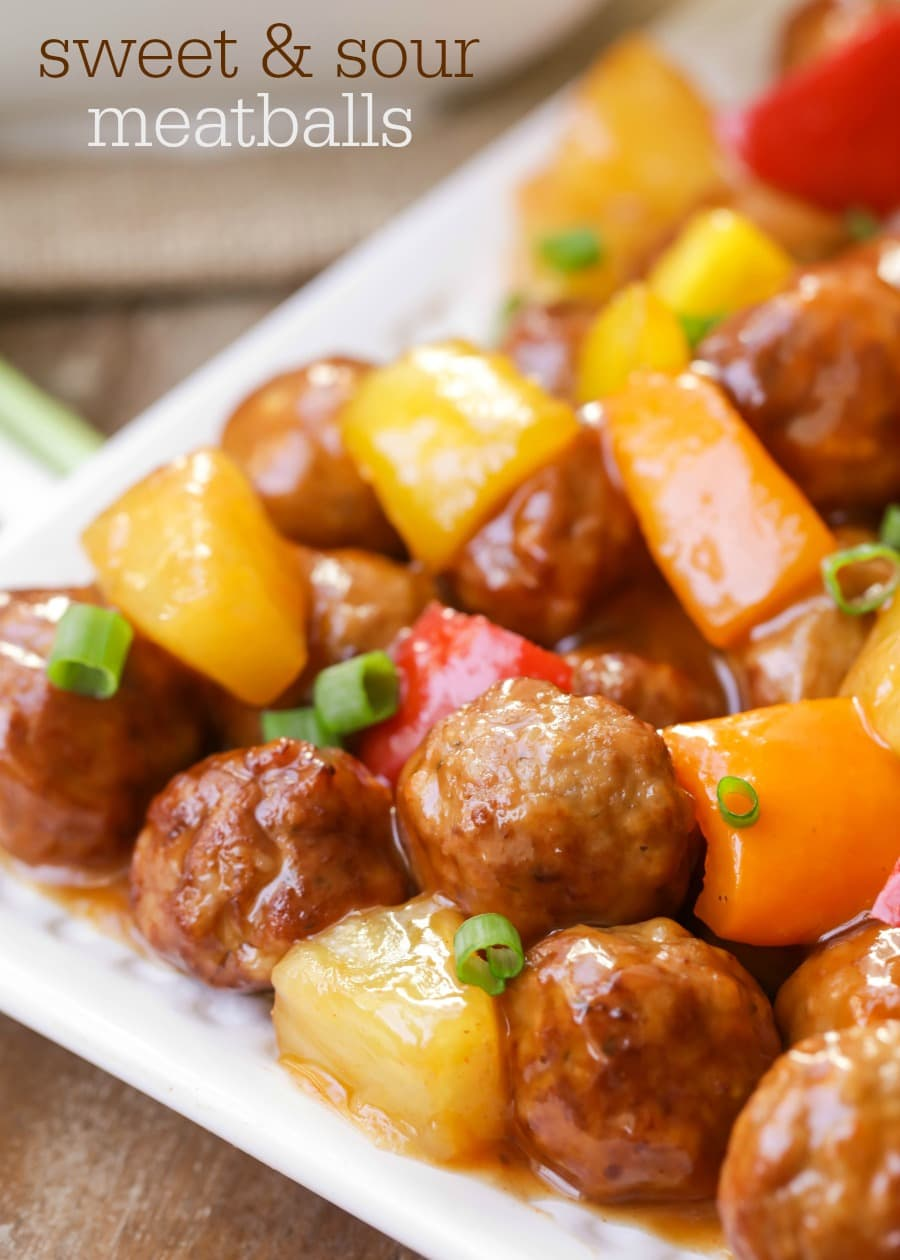 recipe: sweet and sour meatballs with pineapple and tomato sauce [6]