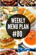 Weekly Menu Plan 80