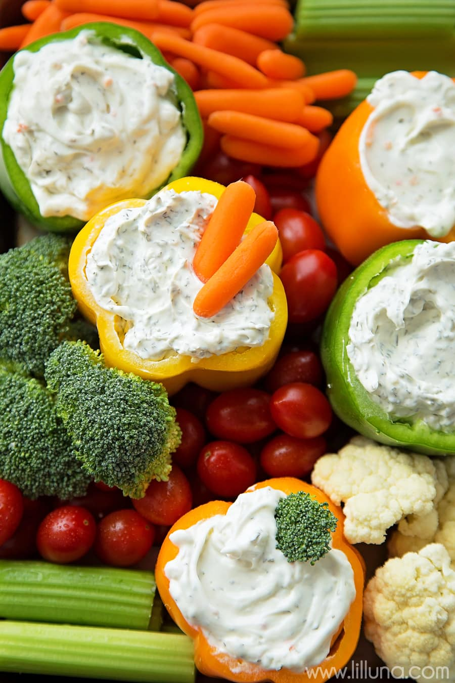 Easy Game Day Veggie Trays - perfect for any occasion or party!