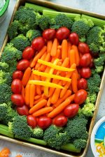 Easy Game Day Veggie Trays