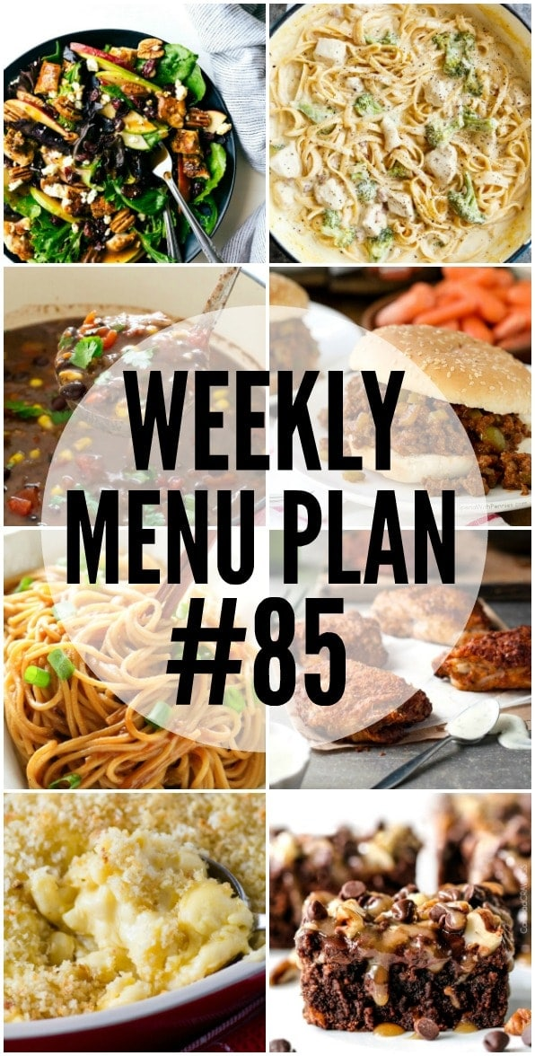 Weekly Menu Plan - a delicious collection of dinner, side dish and dessert recipes that helps you create your weekly menu.