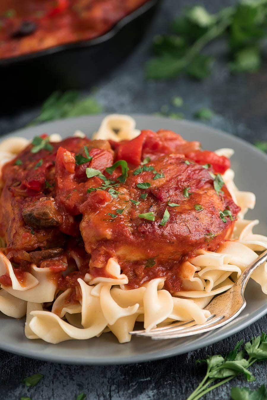 Our favorite Chicken Cacciatore recipe!
