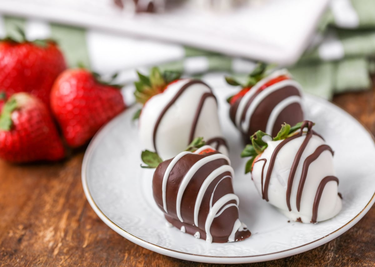 Chocolate Covered Strawberries on plate