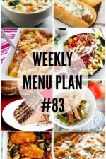 Weekly Menu Plan 83