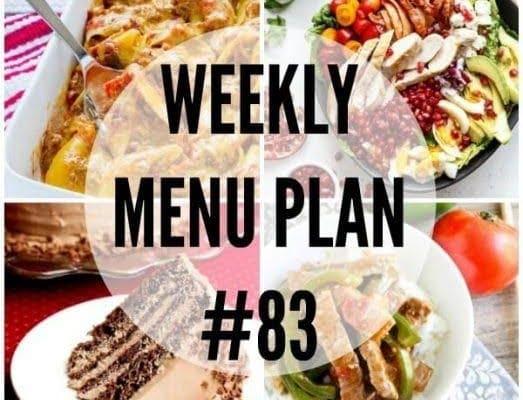 Weekly Menu Plan 83