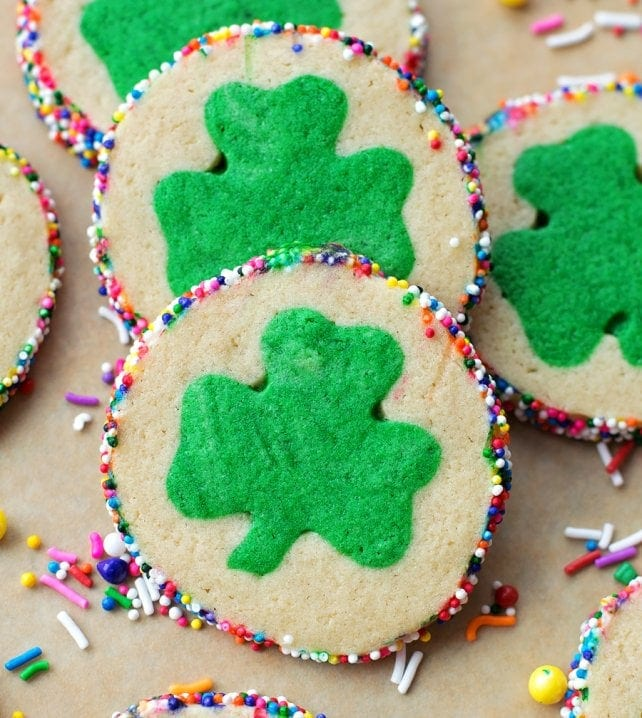 St. Patrick's Day Slice and Bake Cookies