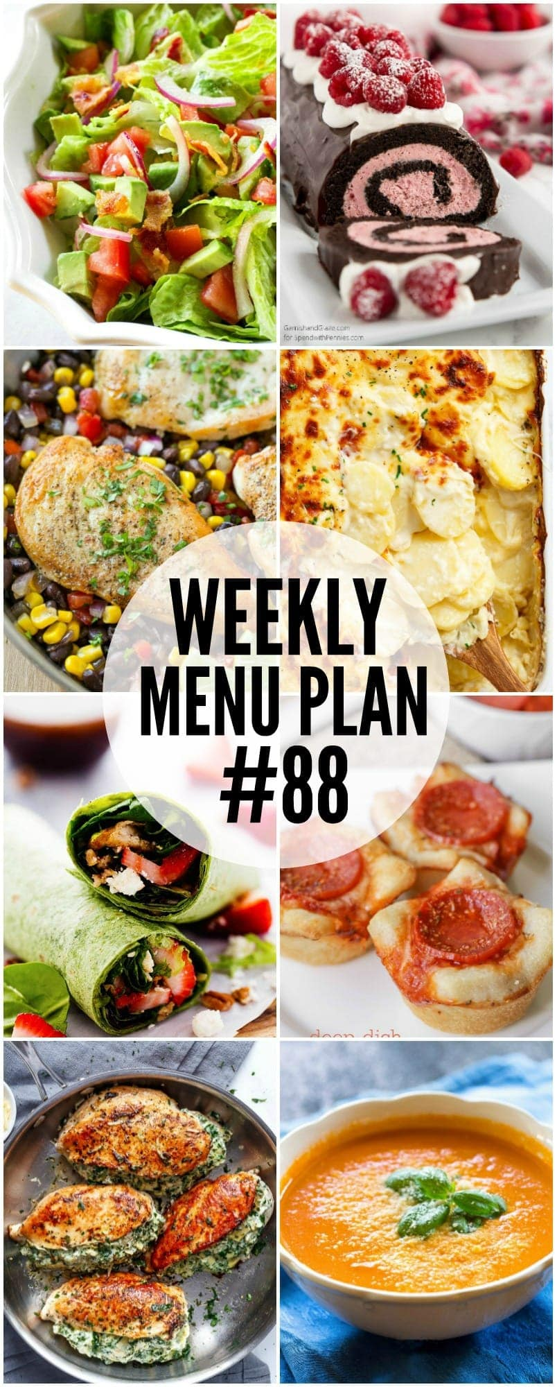 A delicious collection of dinner, side dish and dessert recipes to help you organize your weekly menu plan.