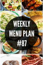 Weekly Menu Plan 87