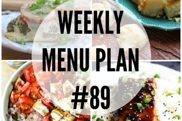Weekly Menu Plan 89