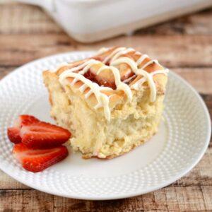 Overnight strawberry cream cheese rolls - a yummy twist on traditional cinnamon rolls.
