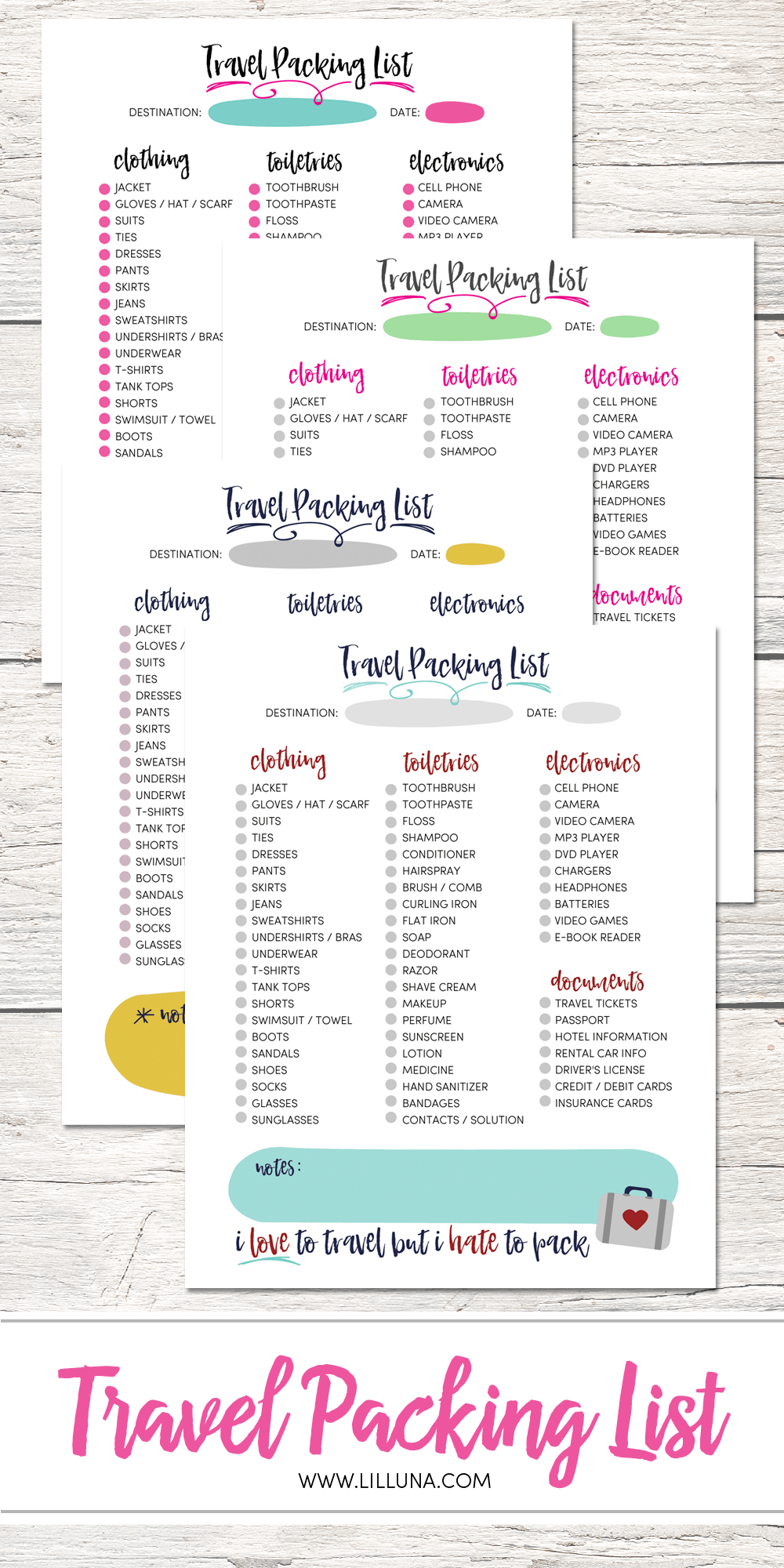 photograph about Free Printable Packing List called Sq. Income + Cost-free Drive Packing Record Print - Lil Luna