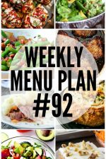 Weekly Menu Plan 92