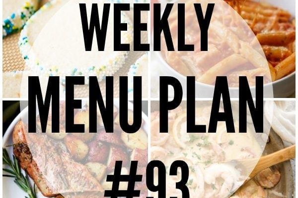 Weekly Menu Plan 93