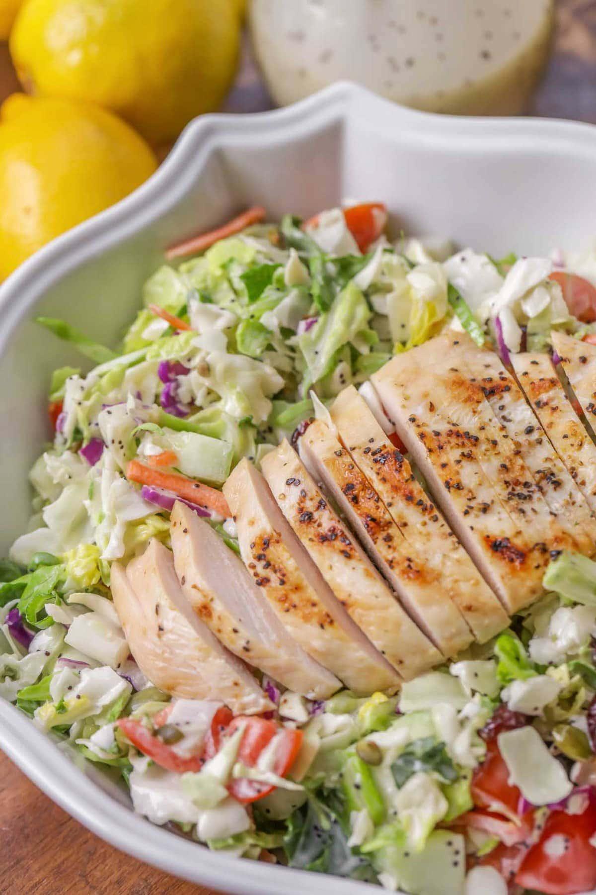 Lemon poppyseed dressing salad