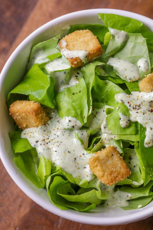 Pesto salad dressing recipe