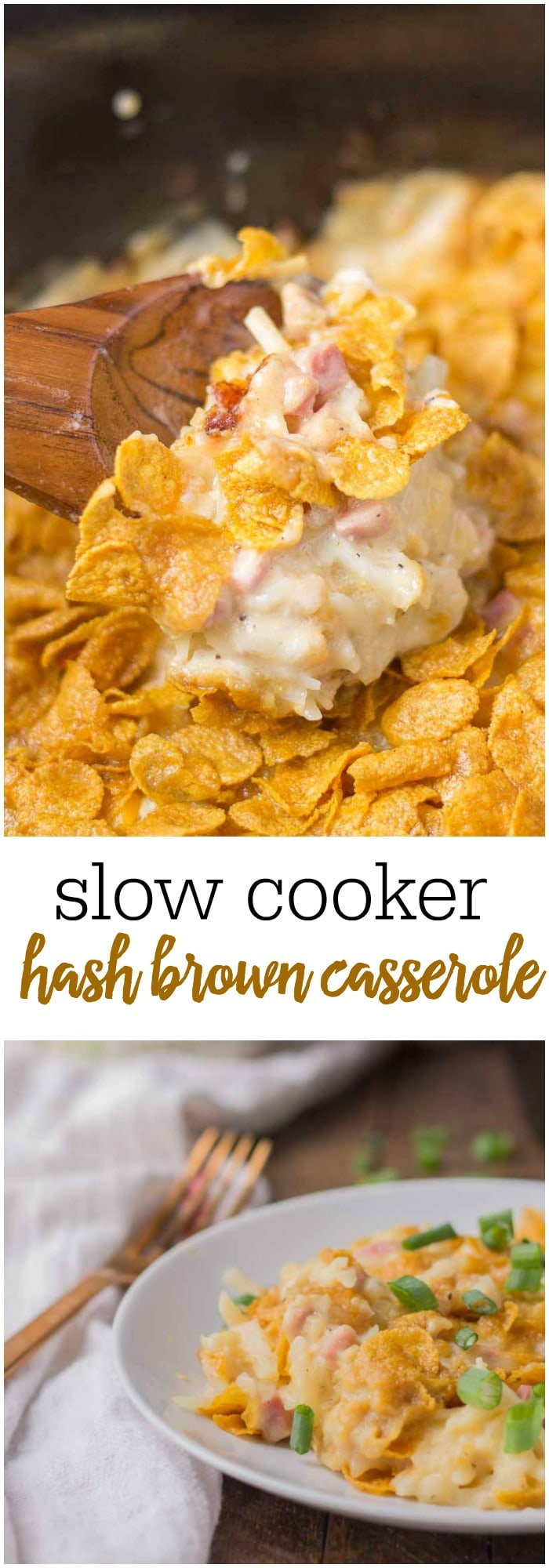 Potluck, Easter brunch or just your typical Sunday Breakfast, this Slow Cooker Hash Brown Casserole is easy, delicious and a family favorite!