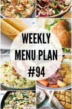 Weekly Menu Plan 94