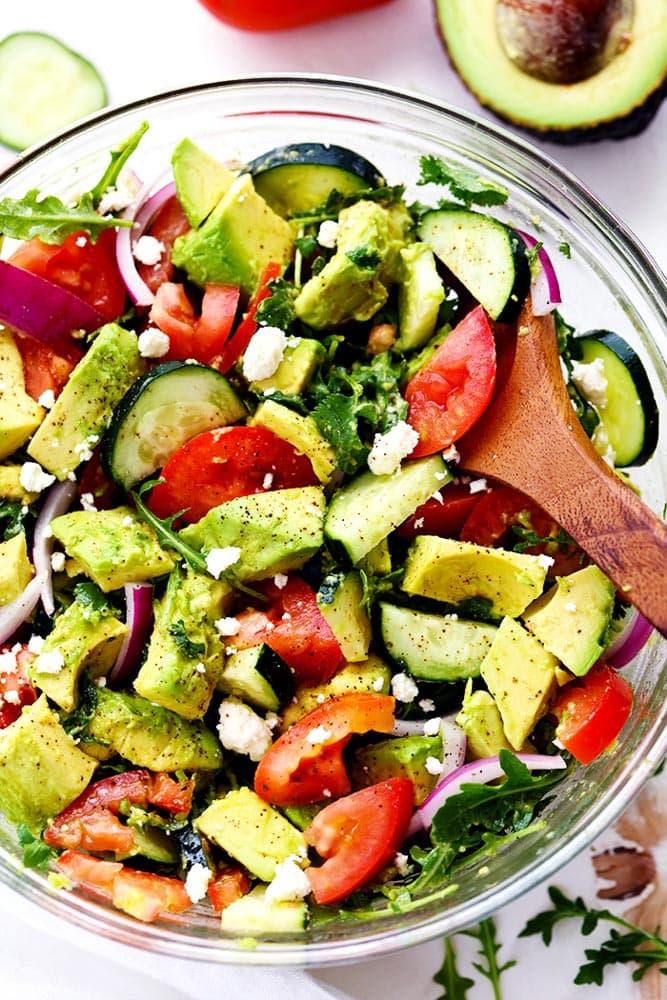 Avocado, Tomato & Arugula Salad