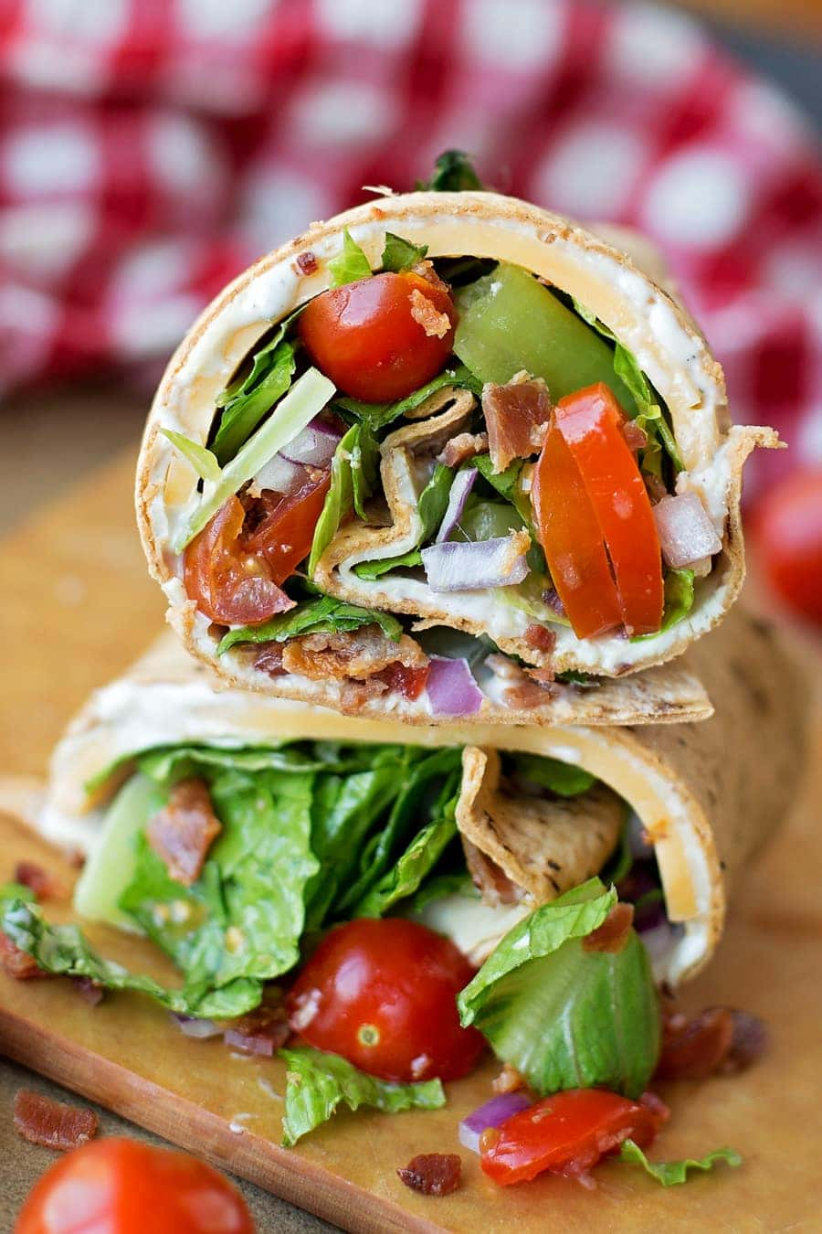 Turkey Bacon Wrap - simple, delicious and perfect for lunch or dinner and is Weight Watchers approved!