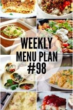 Weekly Menu Plan 98