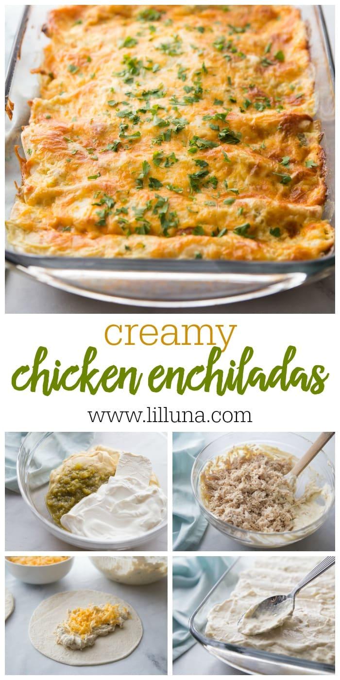 Creamy Chicken Enchialdas Recipe