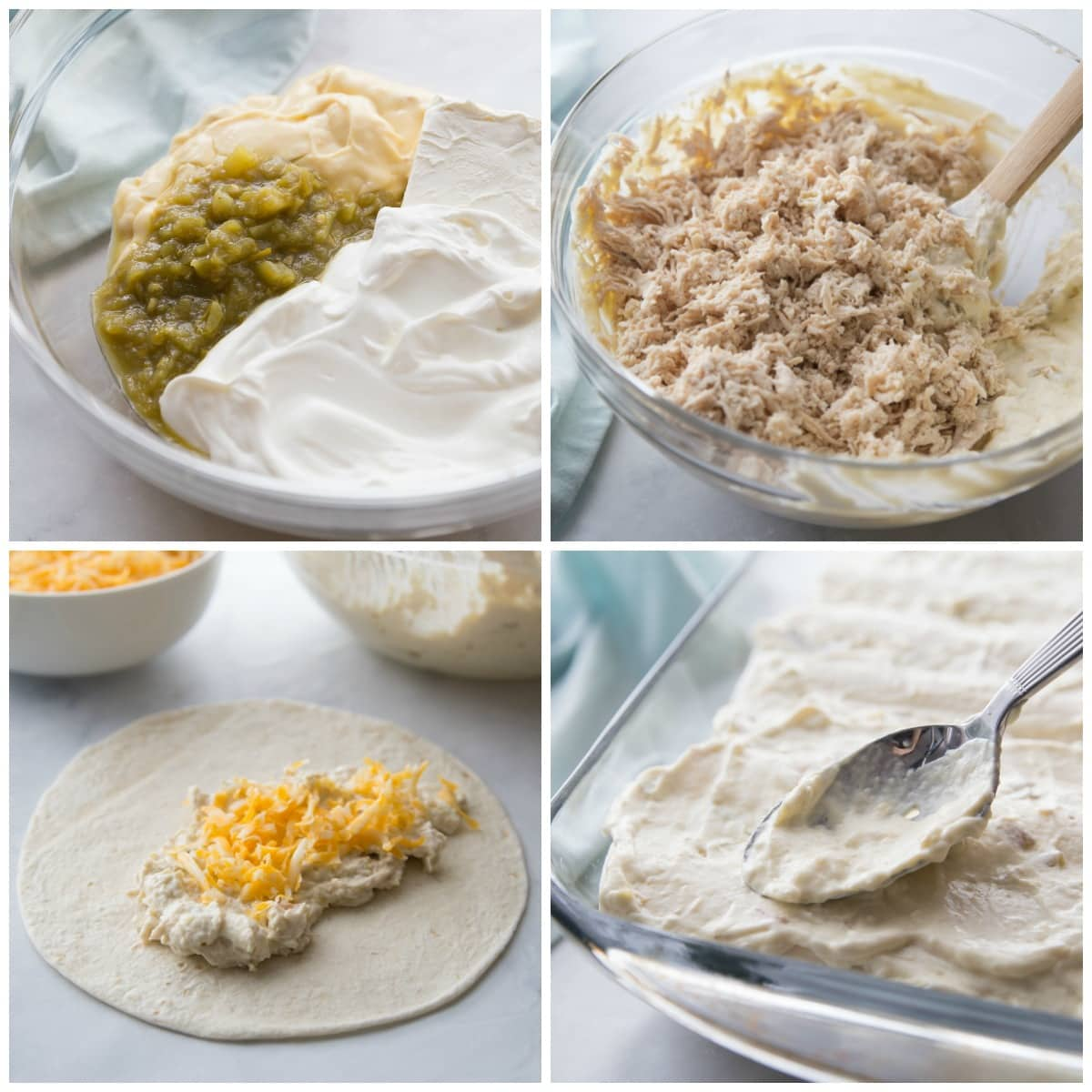 How to make enchiladas with flour tortillas process pics