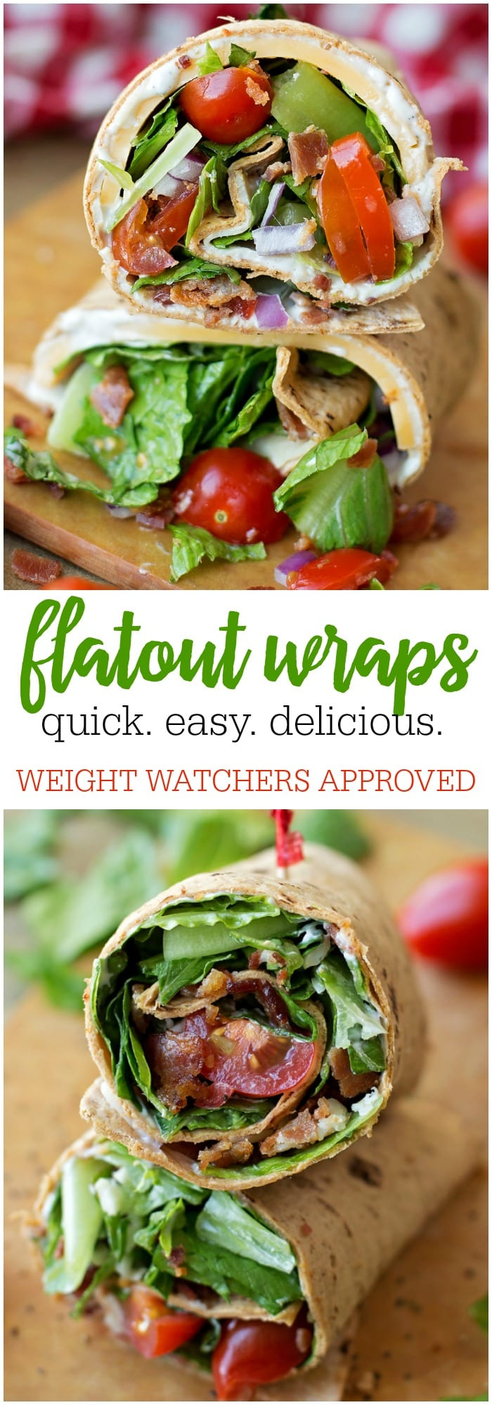 Flatout Wraps - simple, delicious and perfect for lunch or dinner and is Weight Watchers approved!