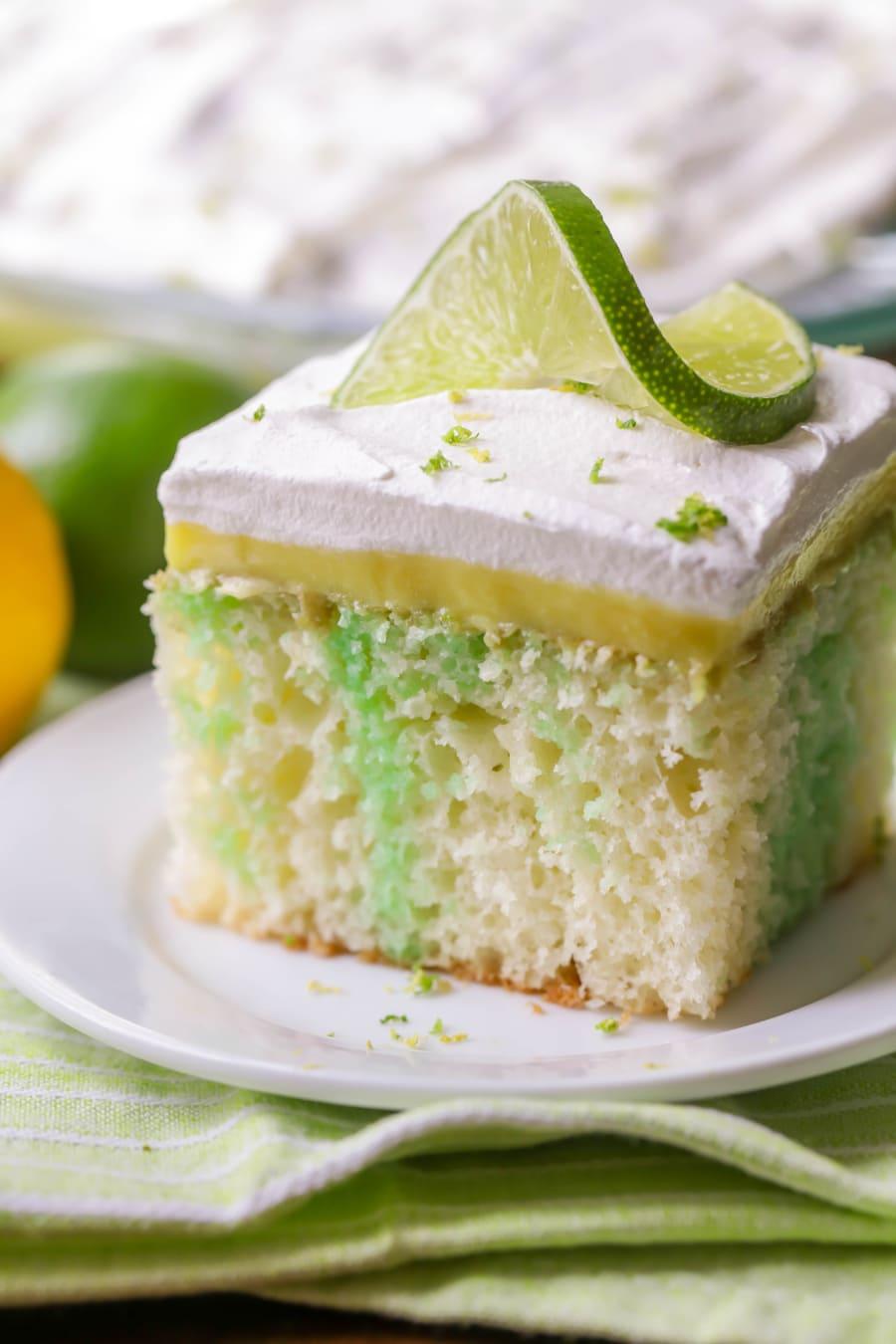 Lemon Poke Jello Cake