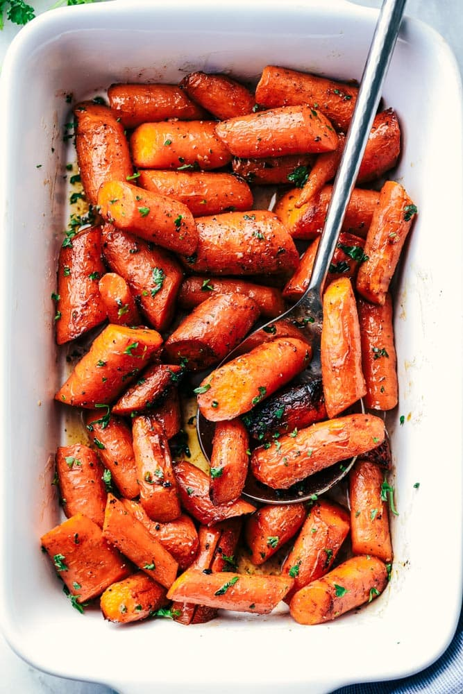 Roasted Brown Butter Honey Garlic Carrots