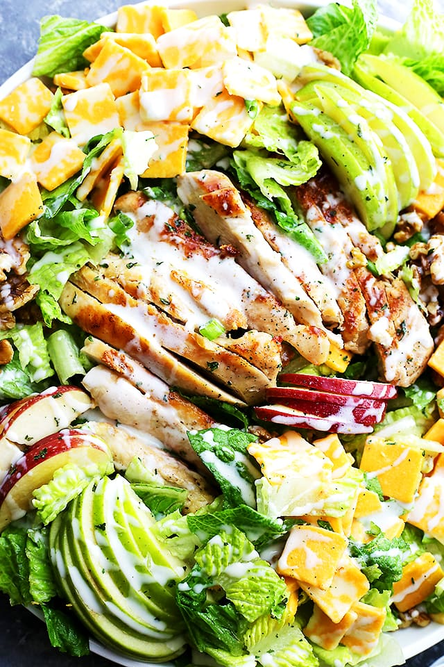 Apples Cheddar and Chicken Salad