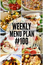 Weekly Menu Plan 100