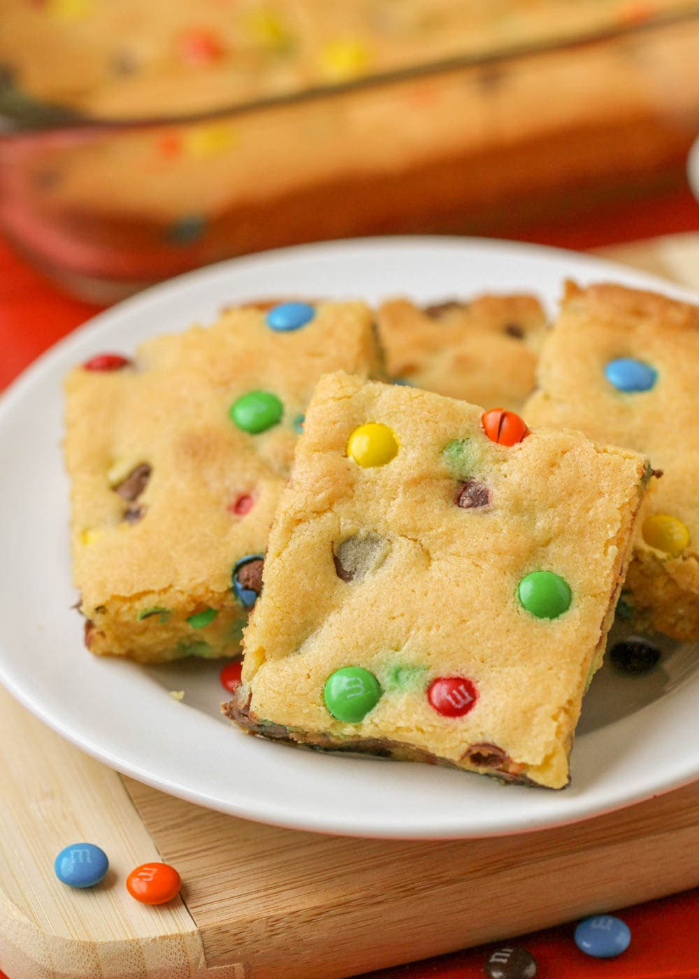 cookie bars made with cake mix