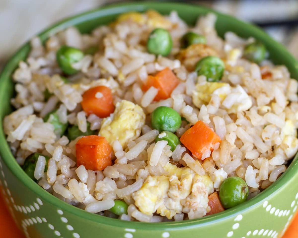 Homemade Fried Rice in a bowl