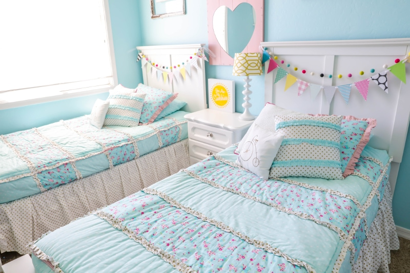 Vintage Here is a closer look at the Always Enchanting bedding u