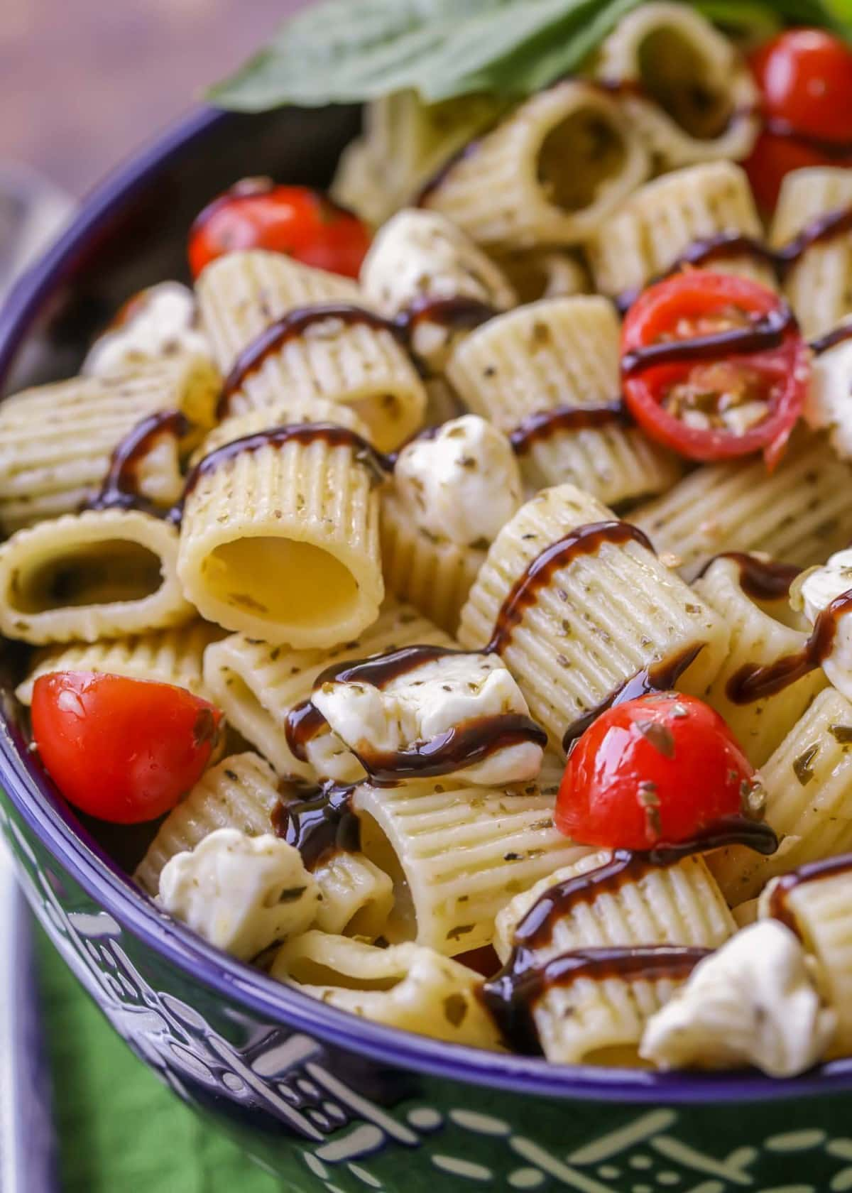 Caprese Pesto Pasta Salad Recipe Video Lil Luna