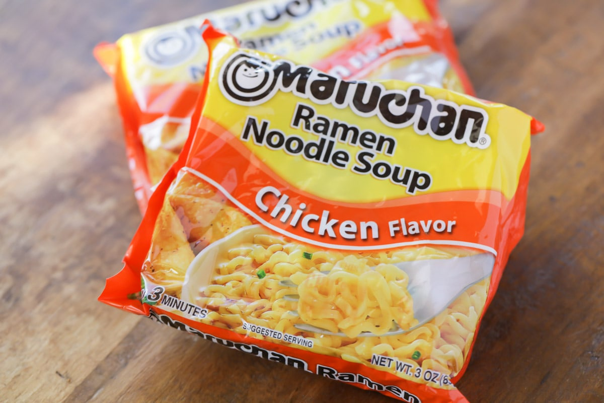 Chicken flavored Ramen noodle soup
