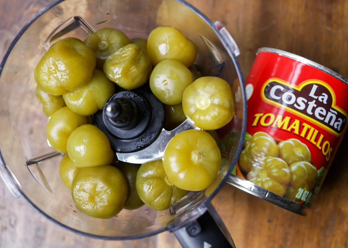 Green Salsa Ingredients - tomatillos