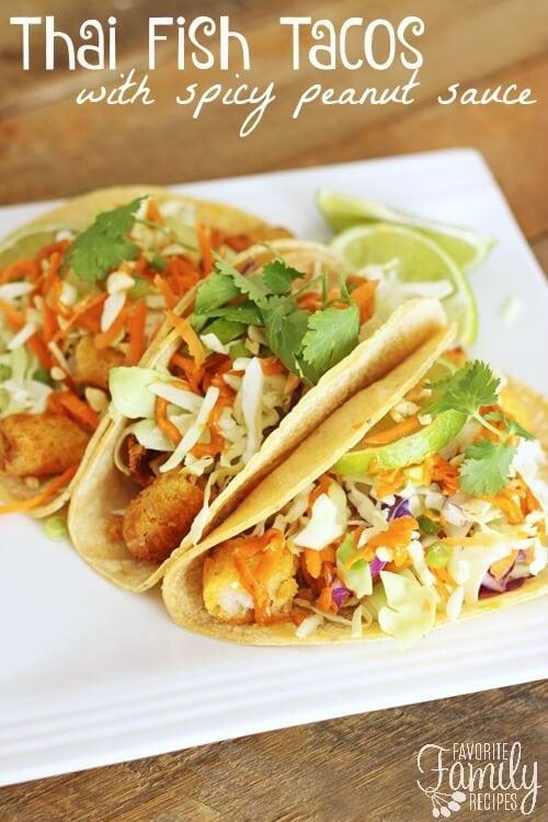 Thai Fish Tacos