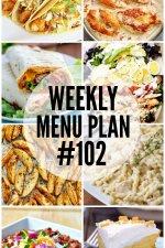 Weekly Menu Plan 102