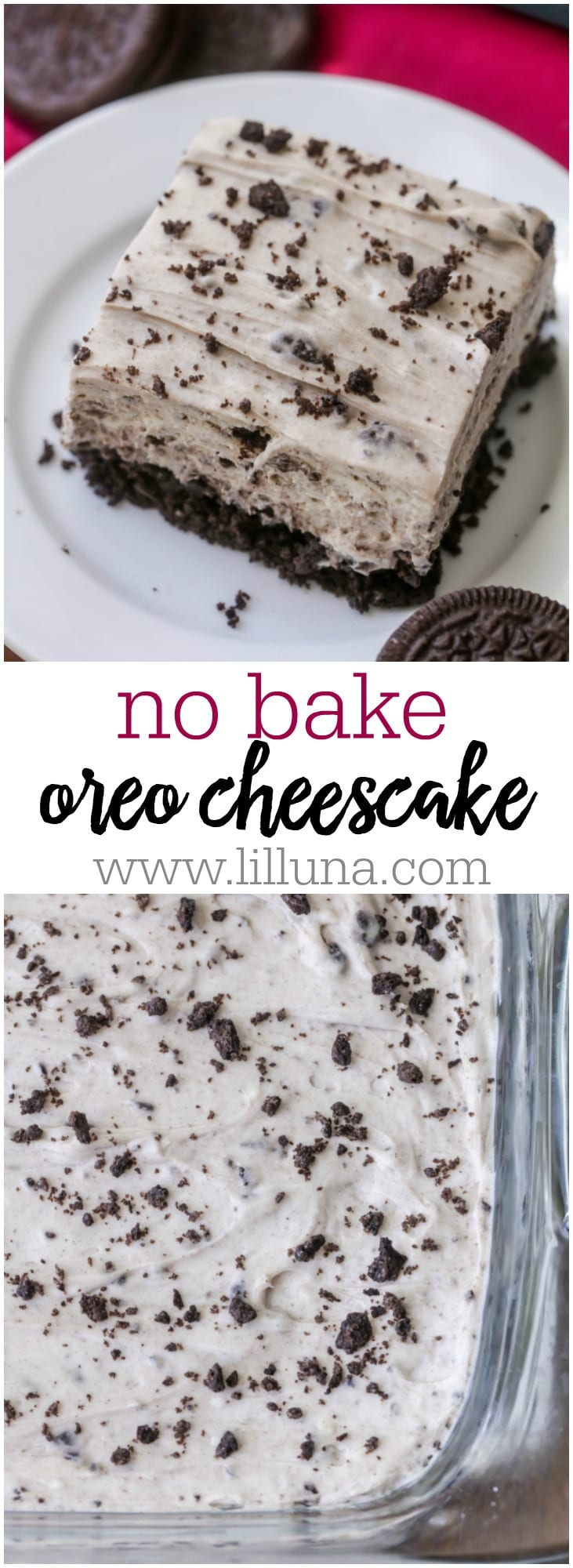 No Bake Oreo Cheesecake A Delicious No Bake Dessert Filled With Everyone S Favorite Cookie