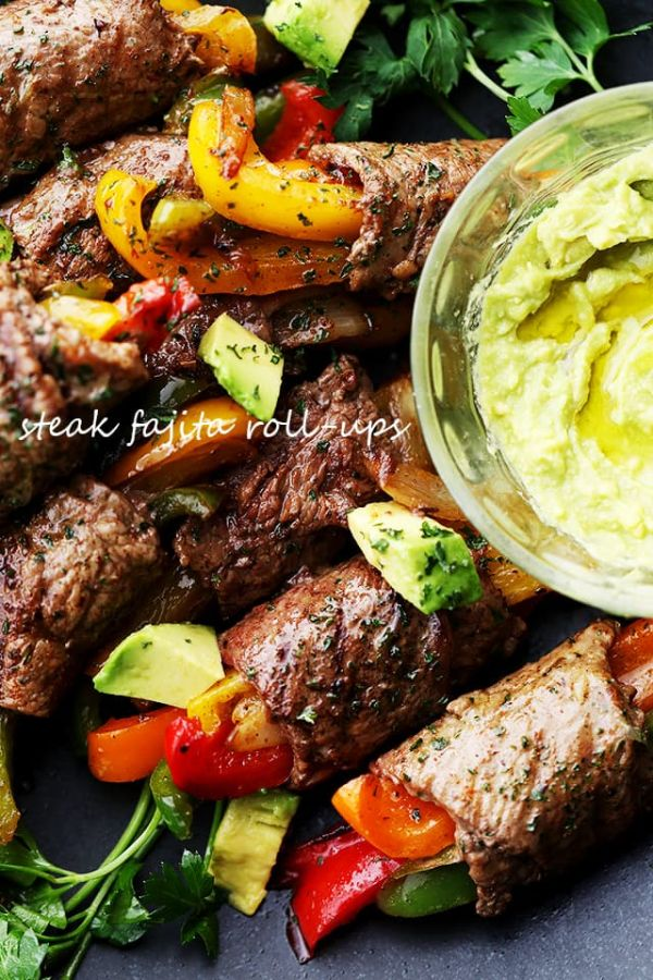 Steak Fajita Roll Ups