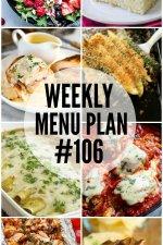 Weekly Menu Plan #106
