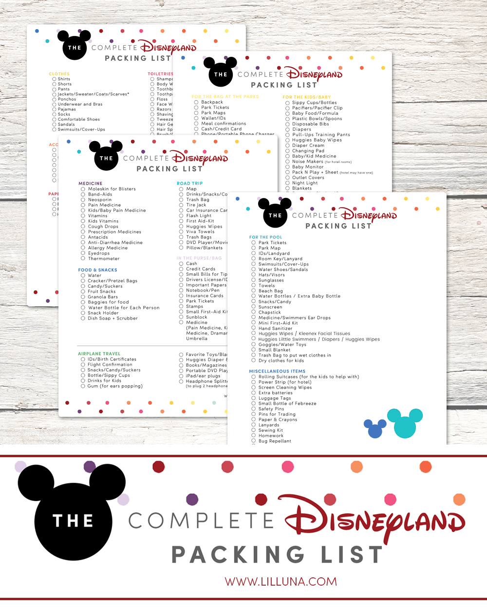 The COMPLETE Disneyland Packing List - all you need to pack for a trip to the Happiest Place on Earth!